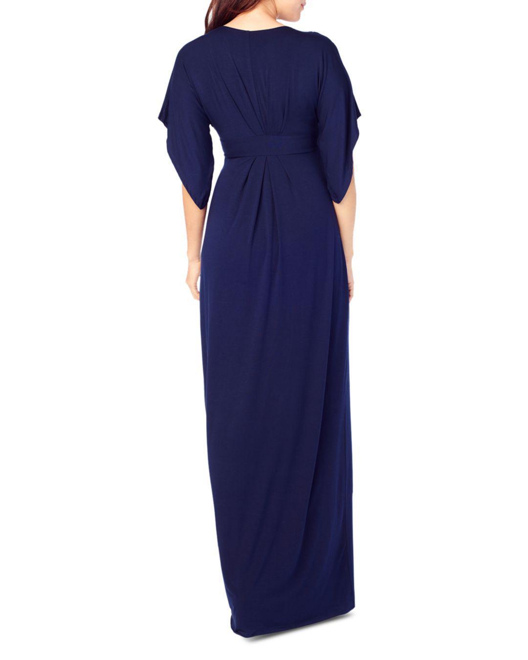 a66f44a0161d8 Ingrid & Isabel Split Kimono Sleeve Maternity Maxi Dress in Blue - Lyst