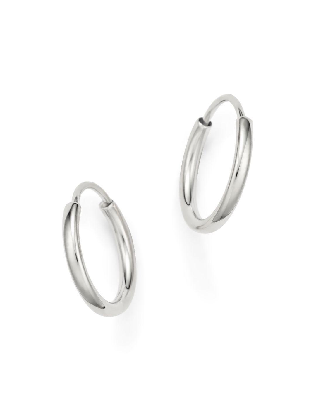 Bloomingdale S Women 14k White Gold Small Endless Hoop Earrings