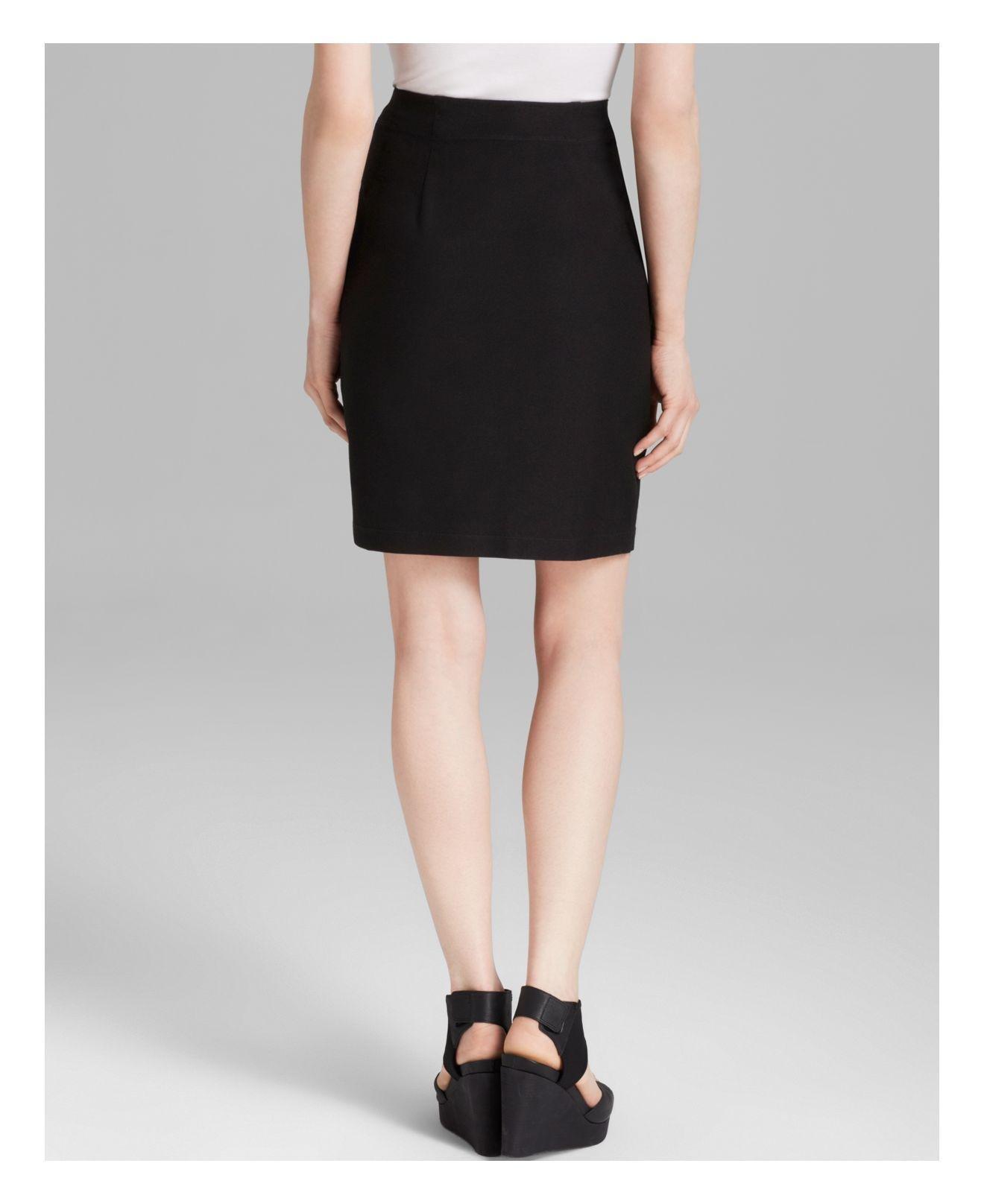 eileen fisher pencil skirt in black lyst