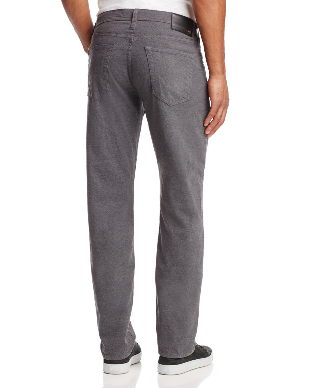 AG Jeans Denim The Graduate Slim Straight Fit Jeans In Grey in Grey for Men