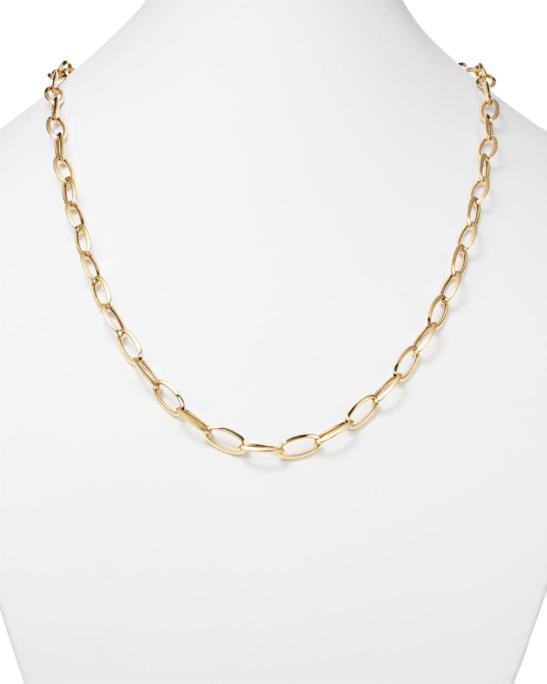 Roberto Coin 18k Yellow Gold Long Link Chain Necklace in Metallic