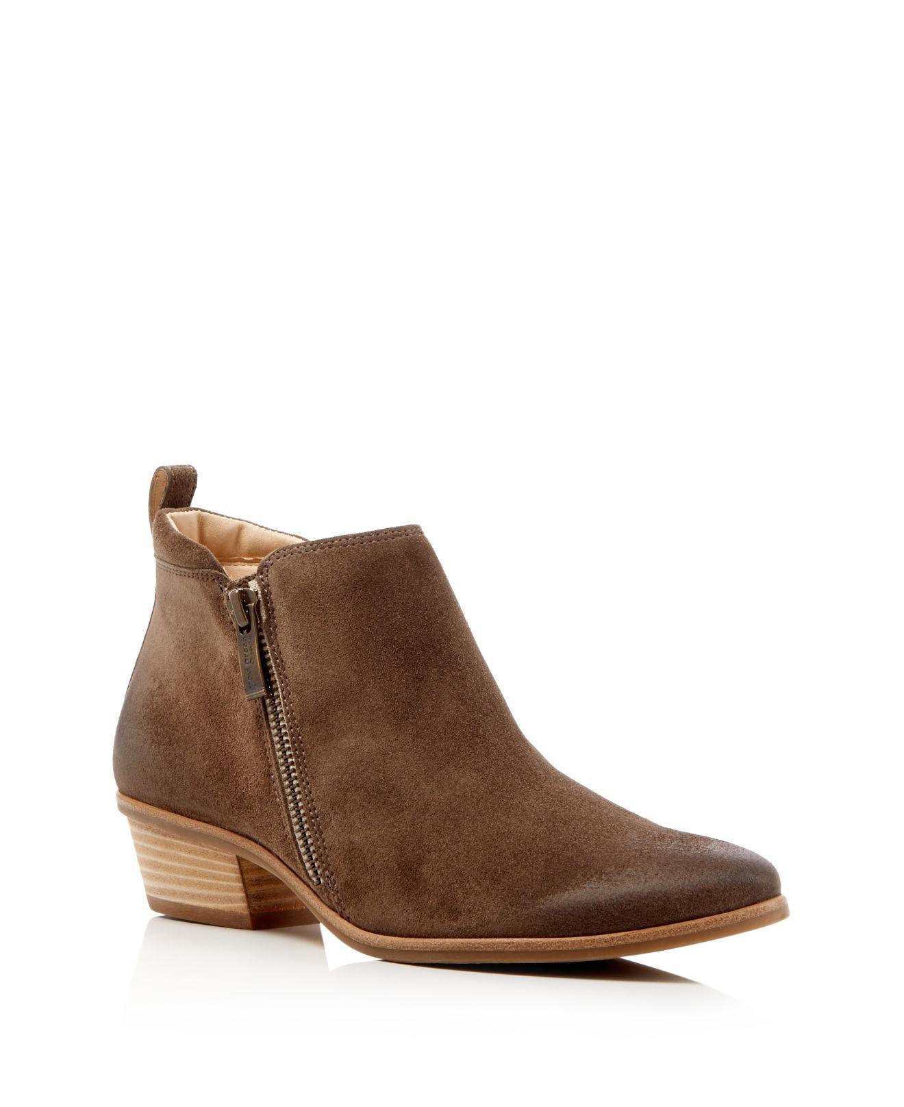 lyst paul green jillian suede ankle boots in brown. Black Bedroom Furniture Sets. Home Design Ideas