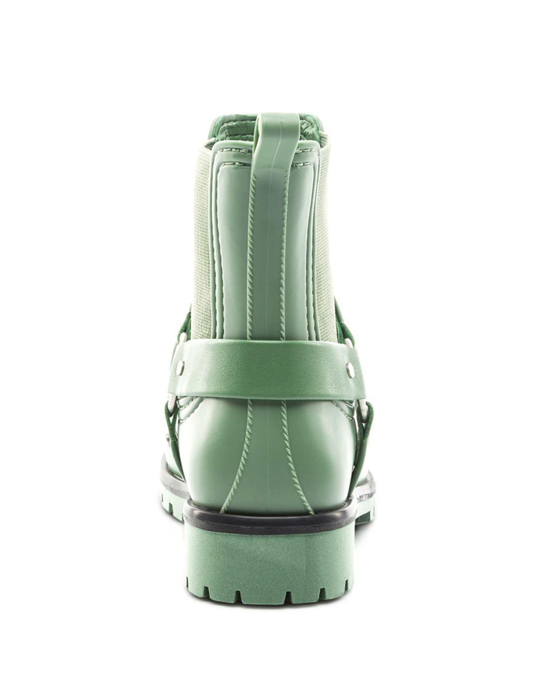 Bernardo Women's Moto Rain Booties in Dark Green (Green)