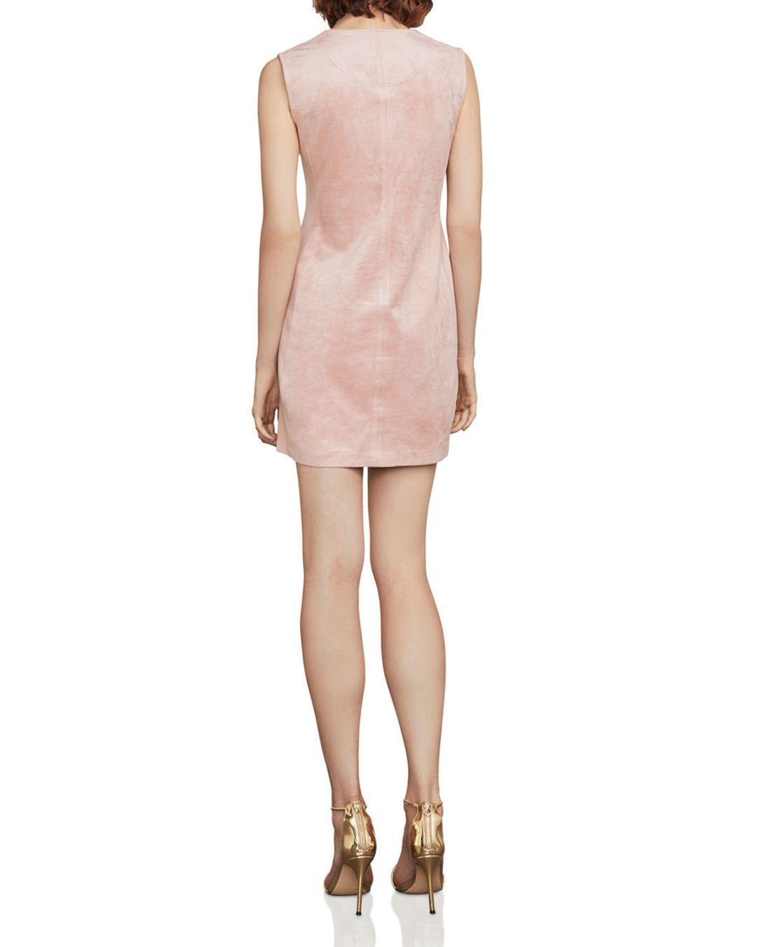b92e2751ec Lyst - BCBGMAXAZRIA Malina Faux-suede Mini Dress