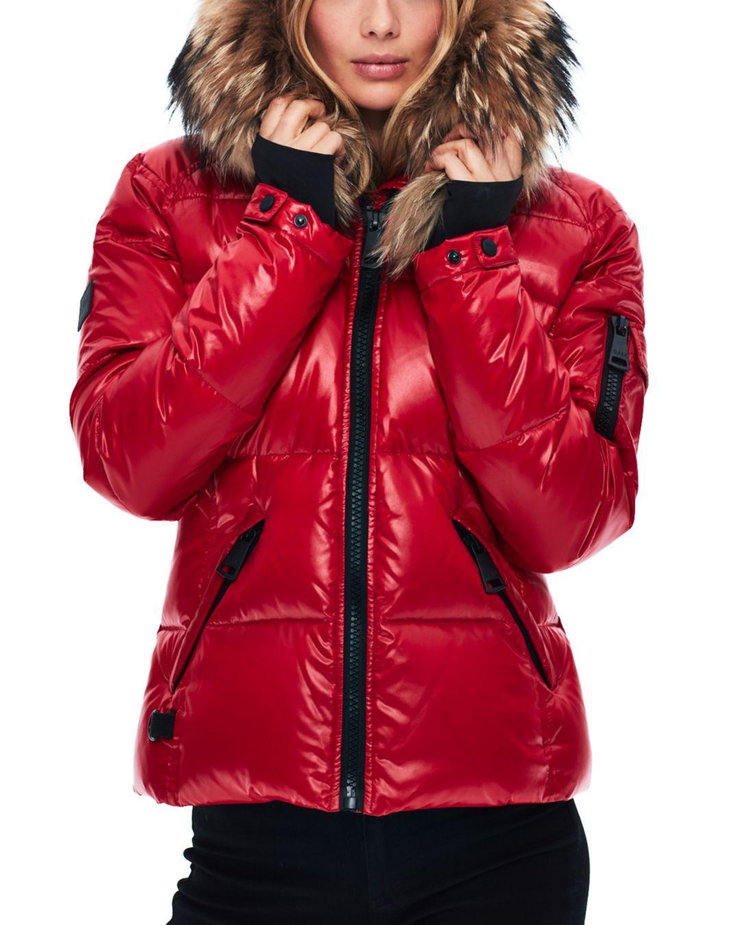 7337343bd Women's Red Blake Fur - Trim Down Coat