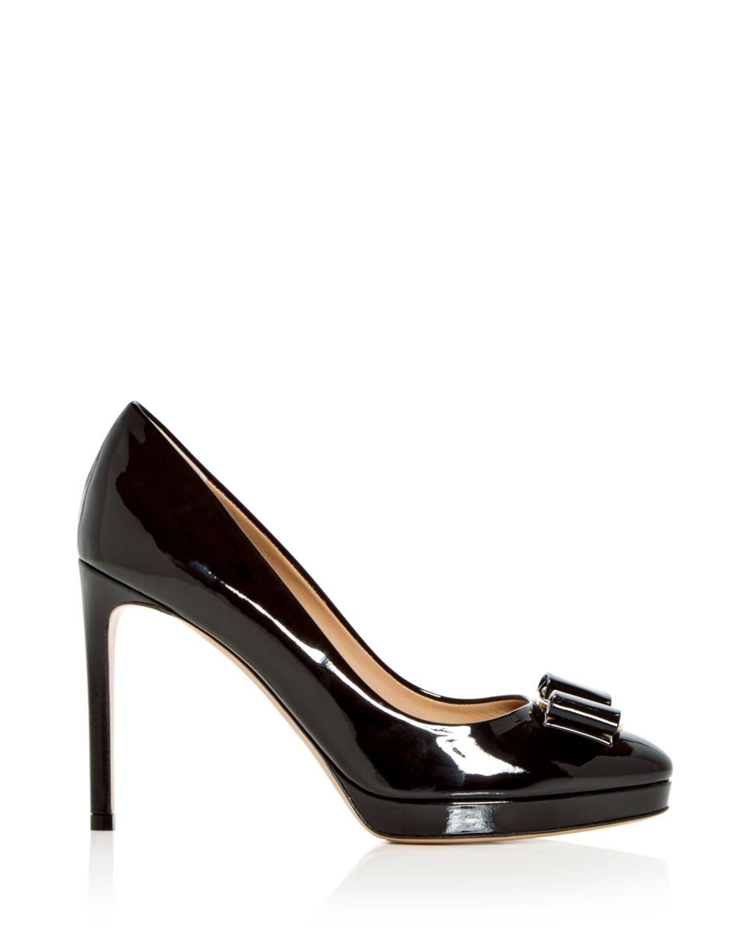 Women's Osimo Patent Leather High Heel Platform Pumps