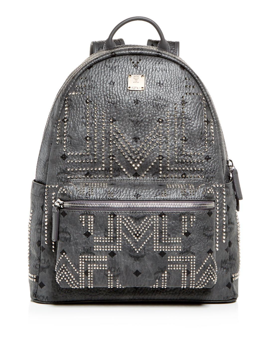 557ff4f5a6054 MCM Stark Gunta Medium Studded Backpack in Gray for Men - Lyst