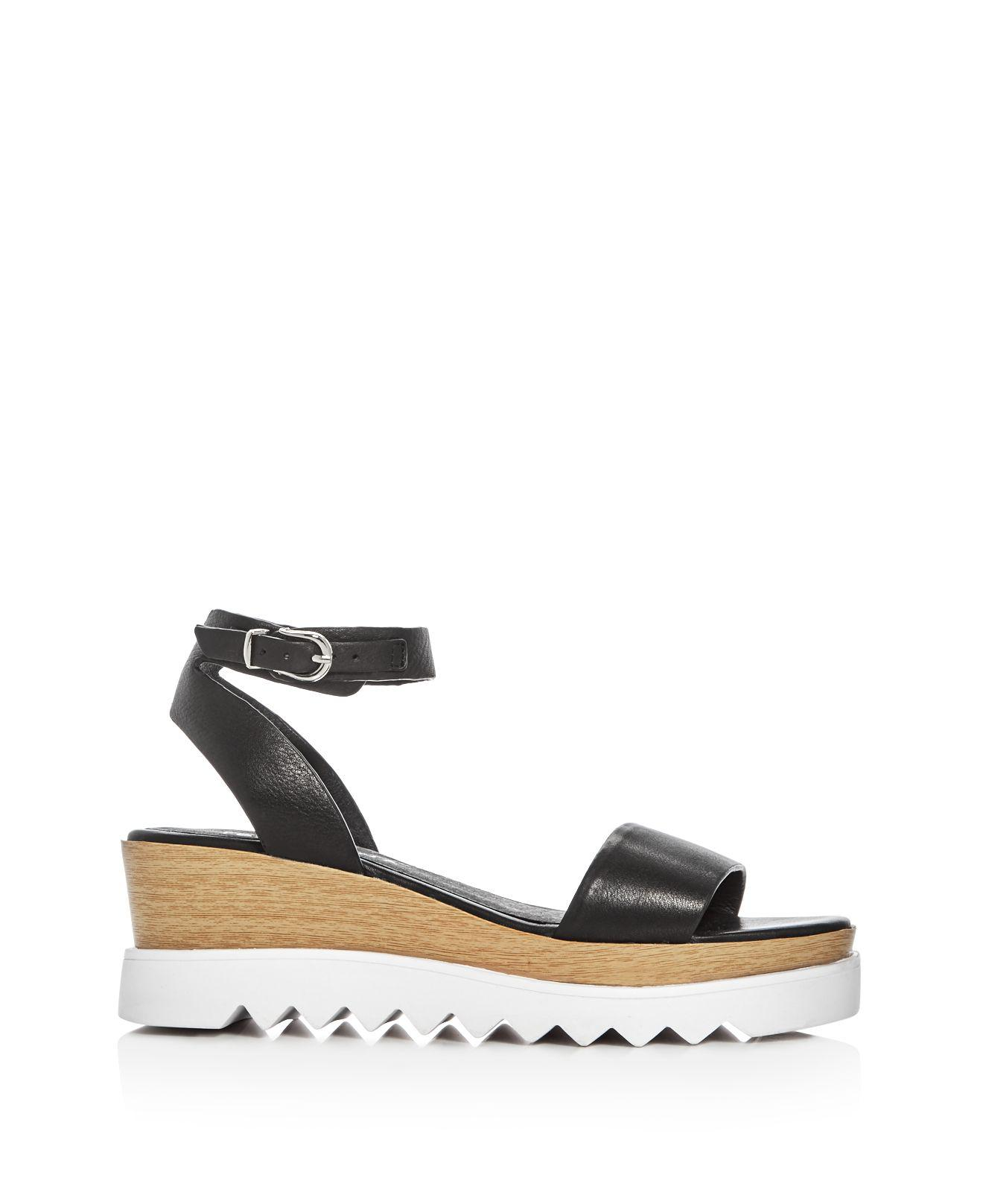 Sol Sana Tray Ankle Strap Wedge Sandals In Black Lyst