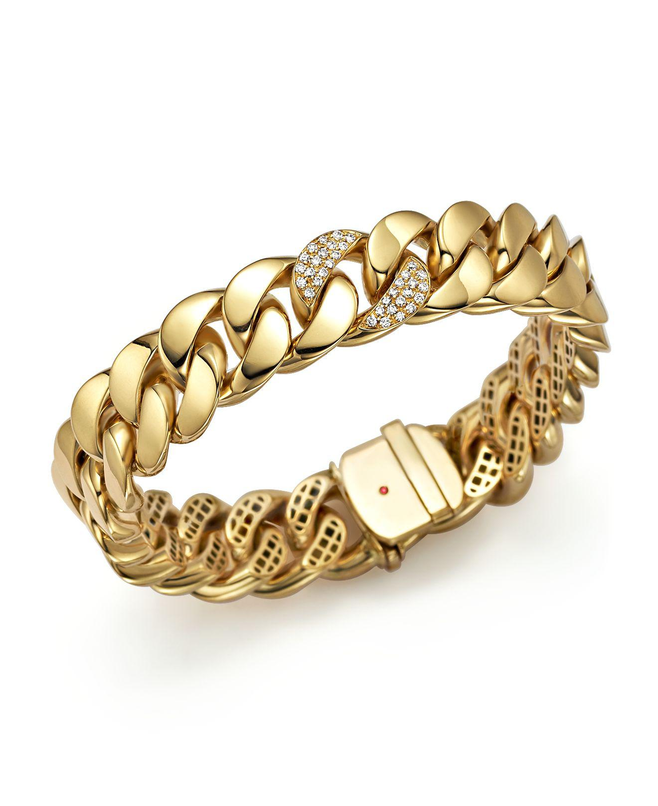 Roberto Coin 18k Gold Woven Bangle Bracelet w/ 2 Diamond Stations KRHj93TqC