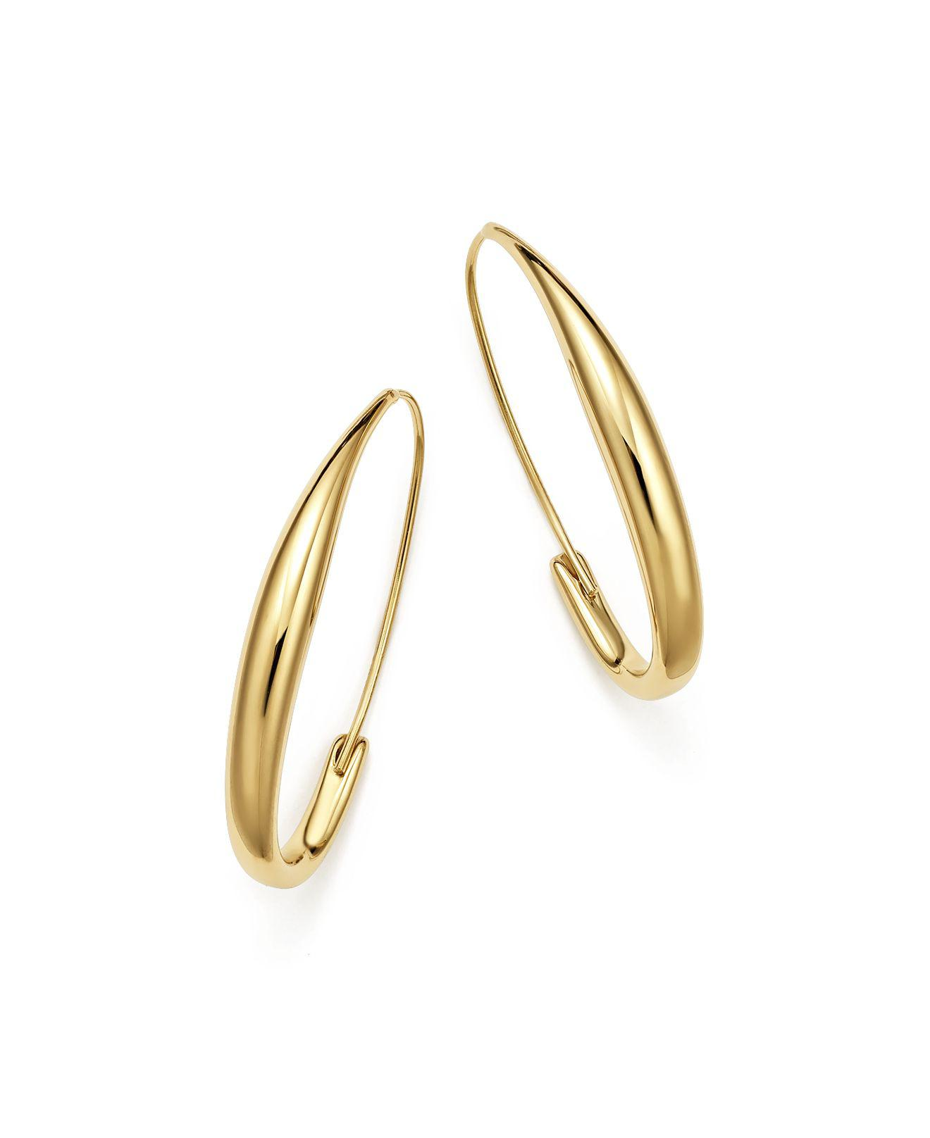 Bloomingdale S Women Metallic Endless Oval Hoop Earrings