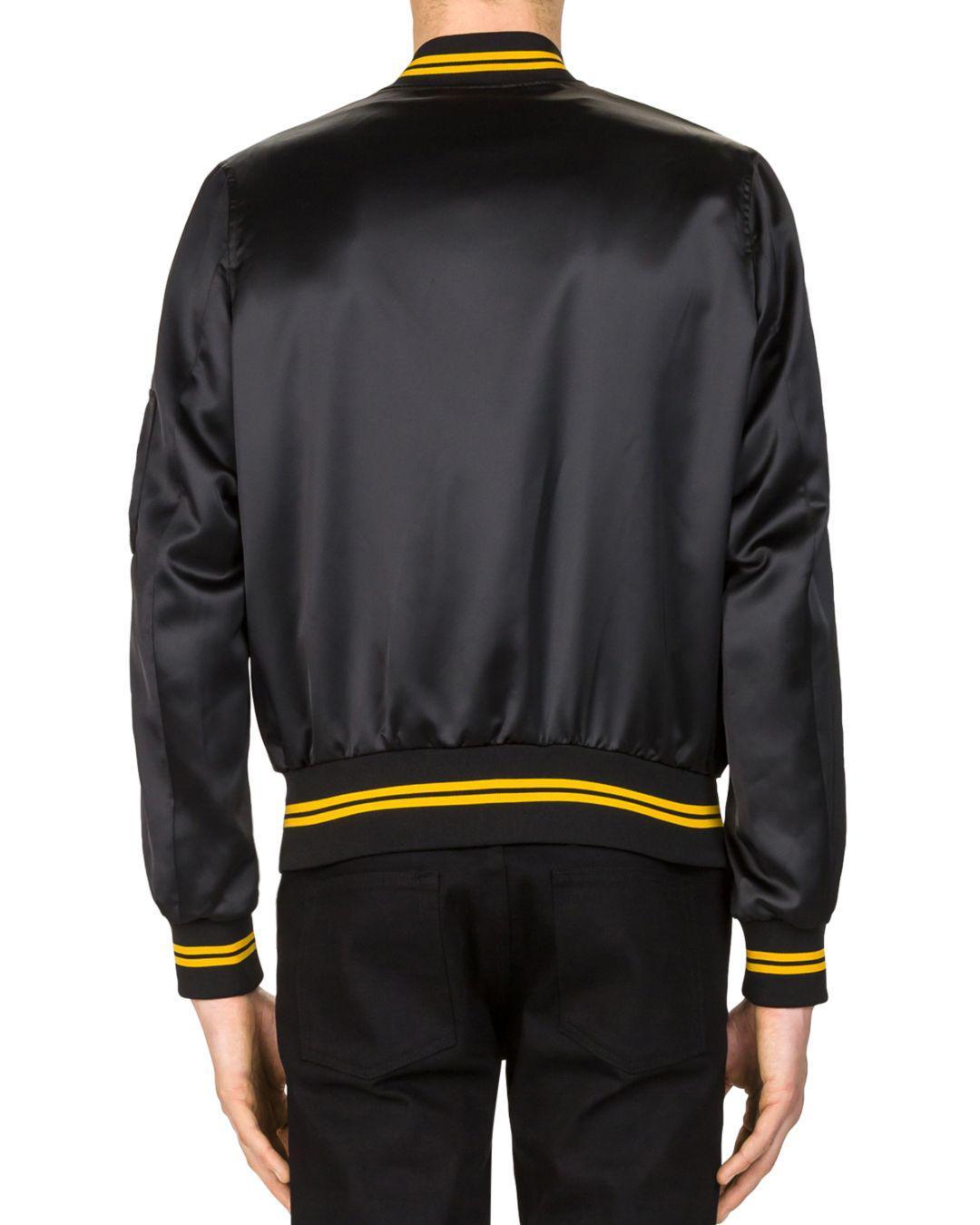The Kooples Shiny Teddy Bomber Jacket in Black for Men
