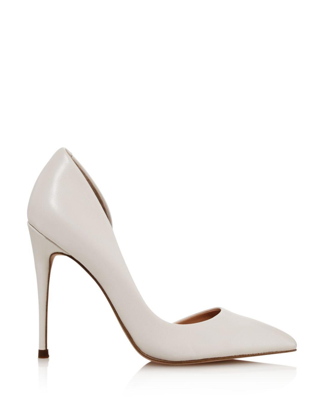 4ffa84146 Aqua Women's Dion Half D'orsay High-heel Pumps in White - Lyst