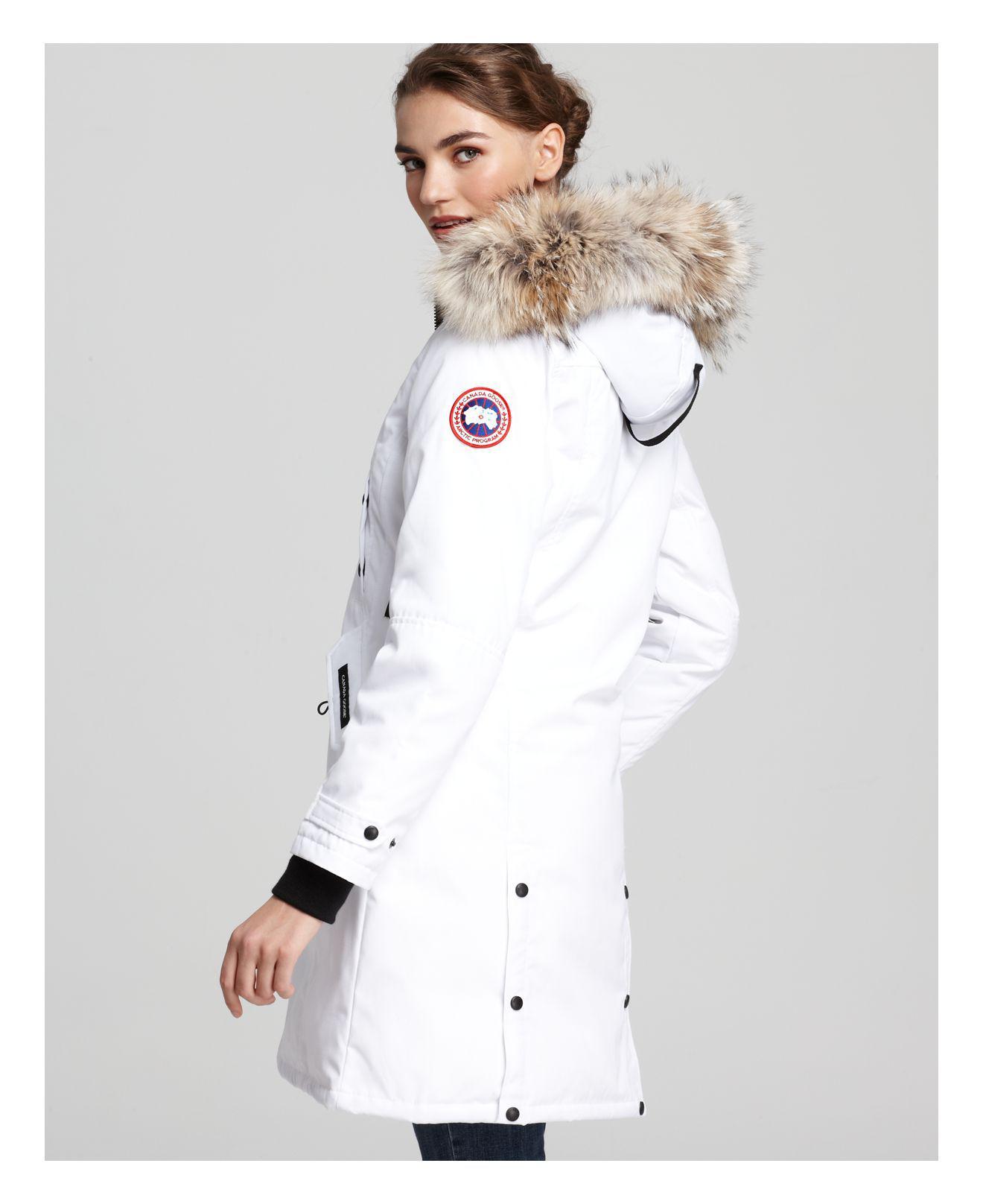 canada goose coat white