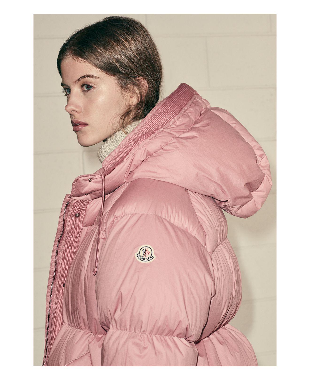moncler coat pink