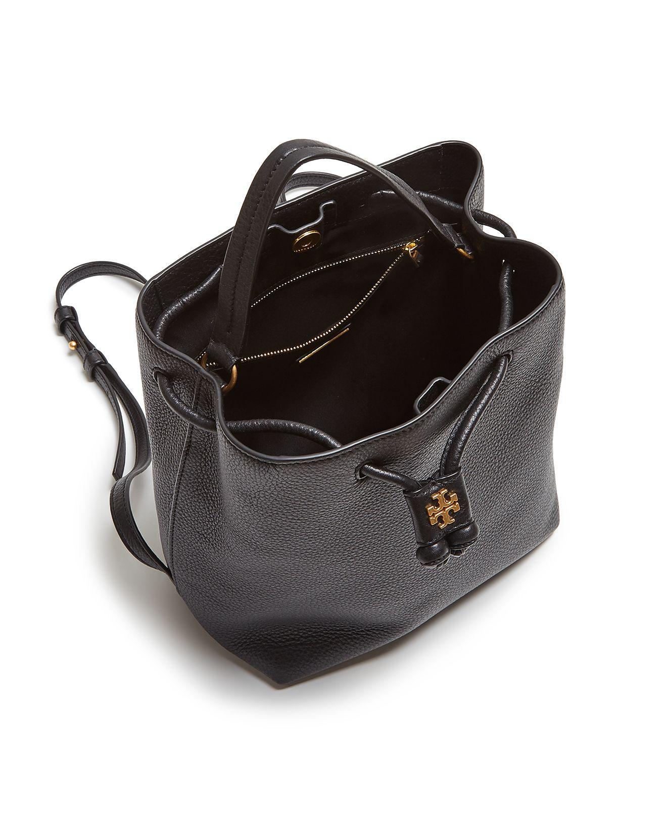 54ac7887f65 Lyst - Tory Burch Georgia Pebbled Leather Backpack in Black