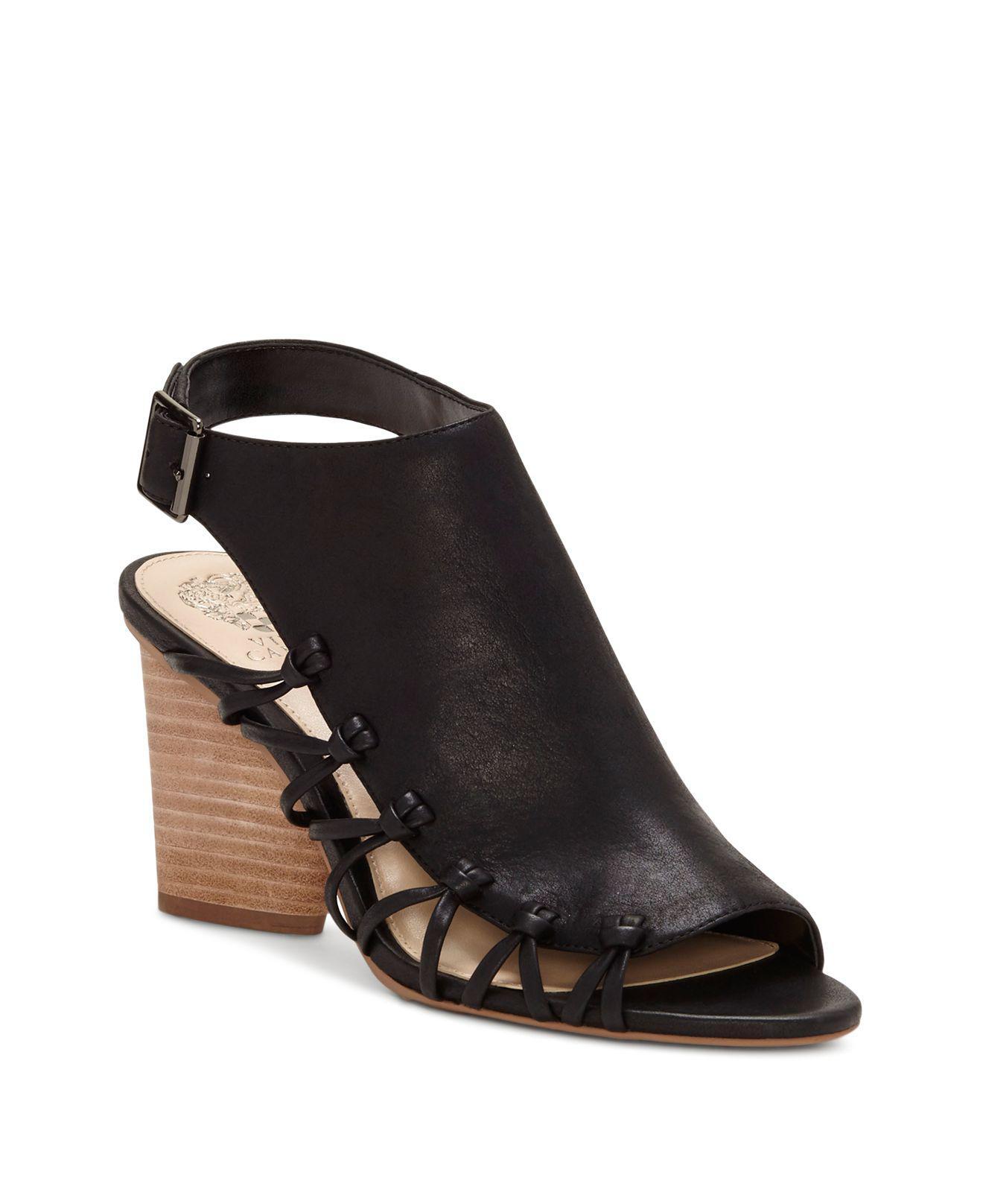 Vince Camuto Women's Ankara Leather Knot Detail High-Heel Sandals TNWd5I5l0