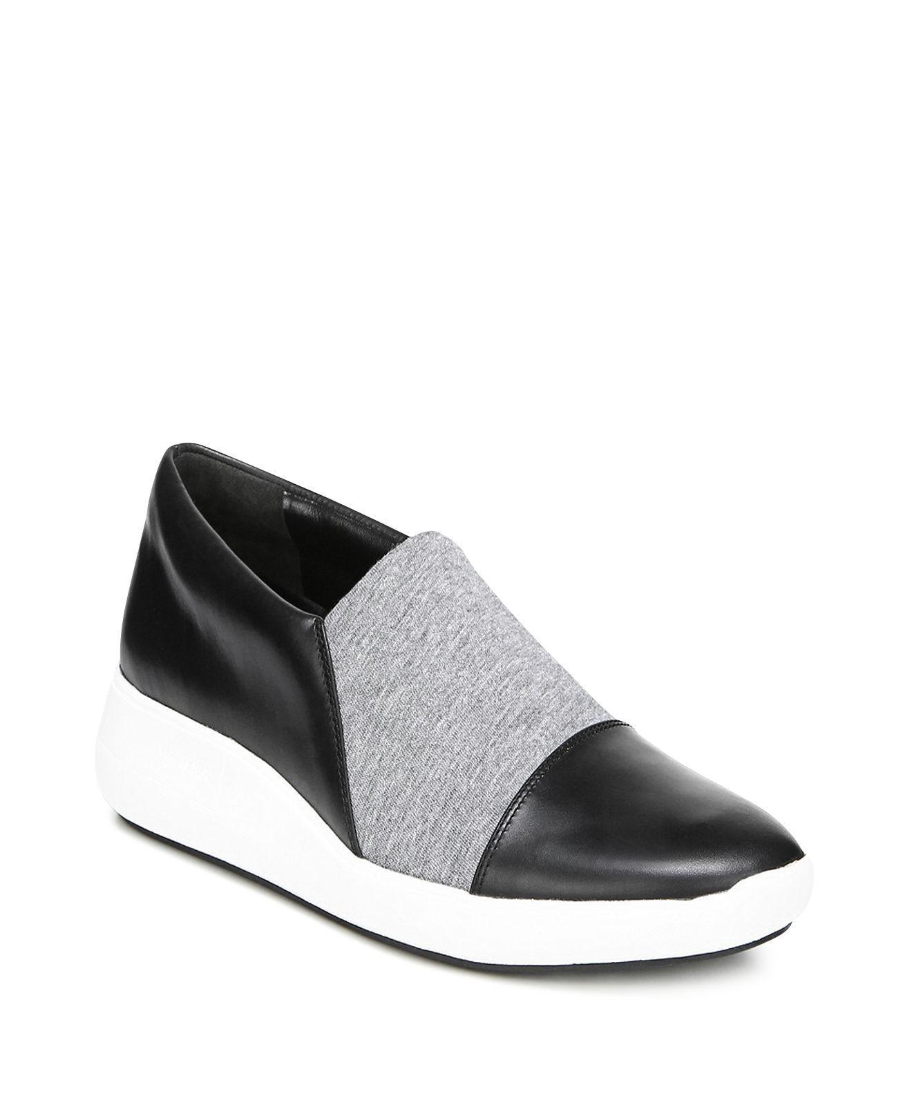 Via Spiga Women's Veila Leather & Knit Slip-On Sneakers