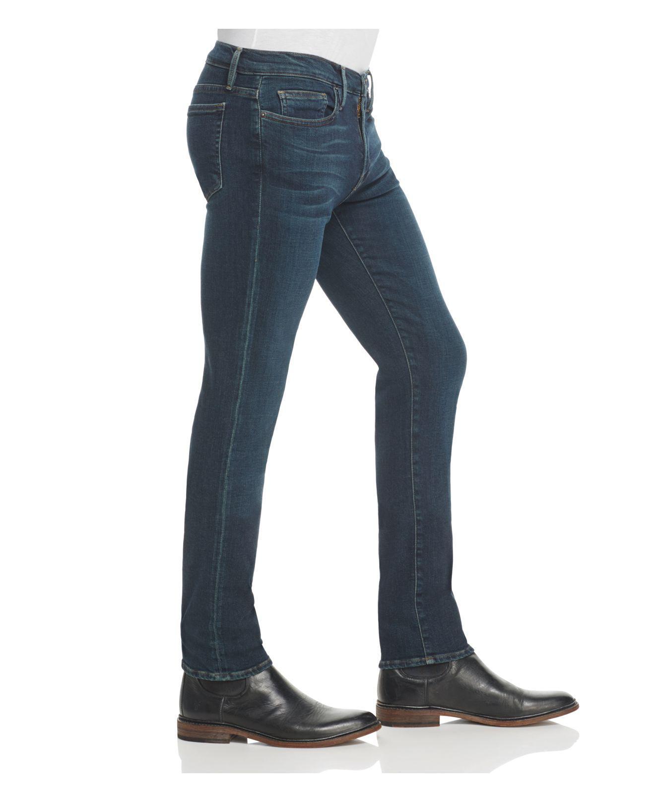 FRAME Denim L'homme Slim Fit Jeans In Evergreen in Blue for Men