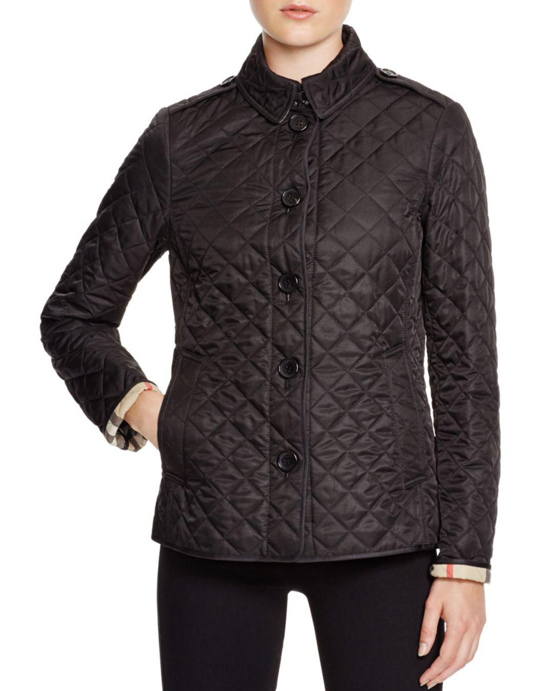 Burberry Ashurst Quilted Jacket In Black Lyst