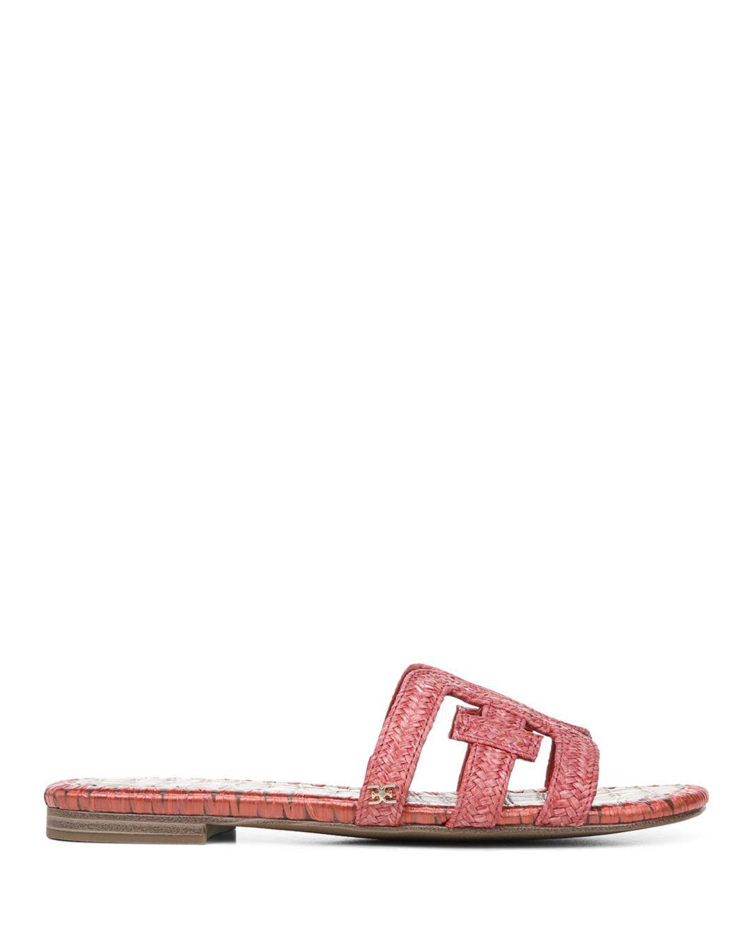 05a9a602a Sam Edelman Women s Beckie Woven Slide Sandals - Lyst