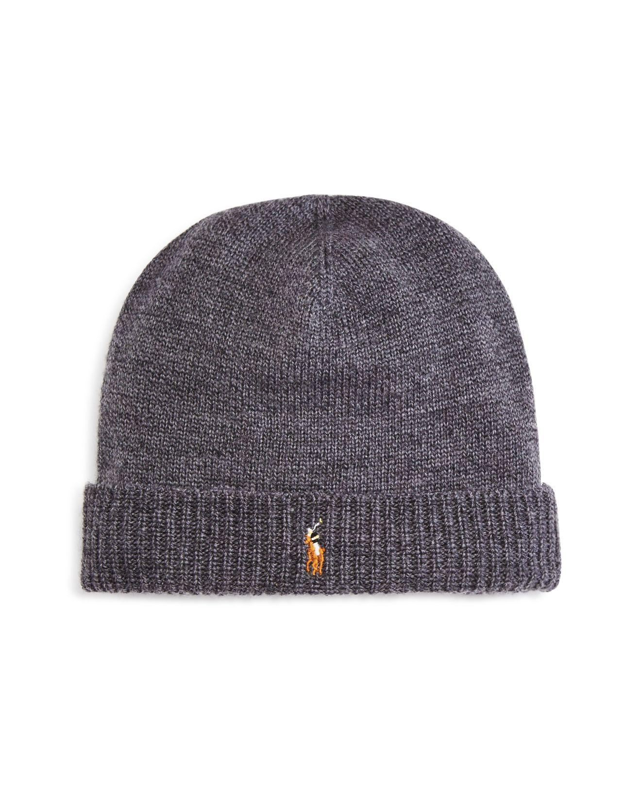 dae03628 Lyst - Polo Ralph Lauren Lux Merino Cuff Hat in Gray for Men