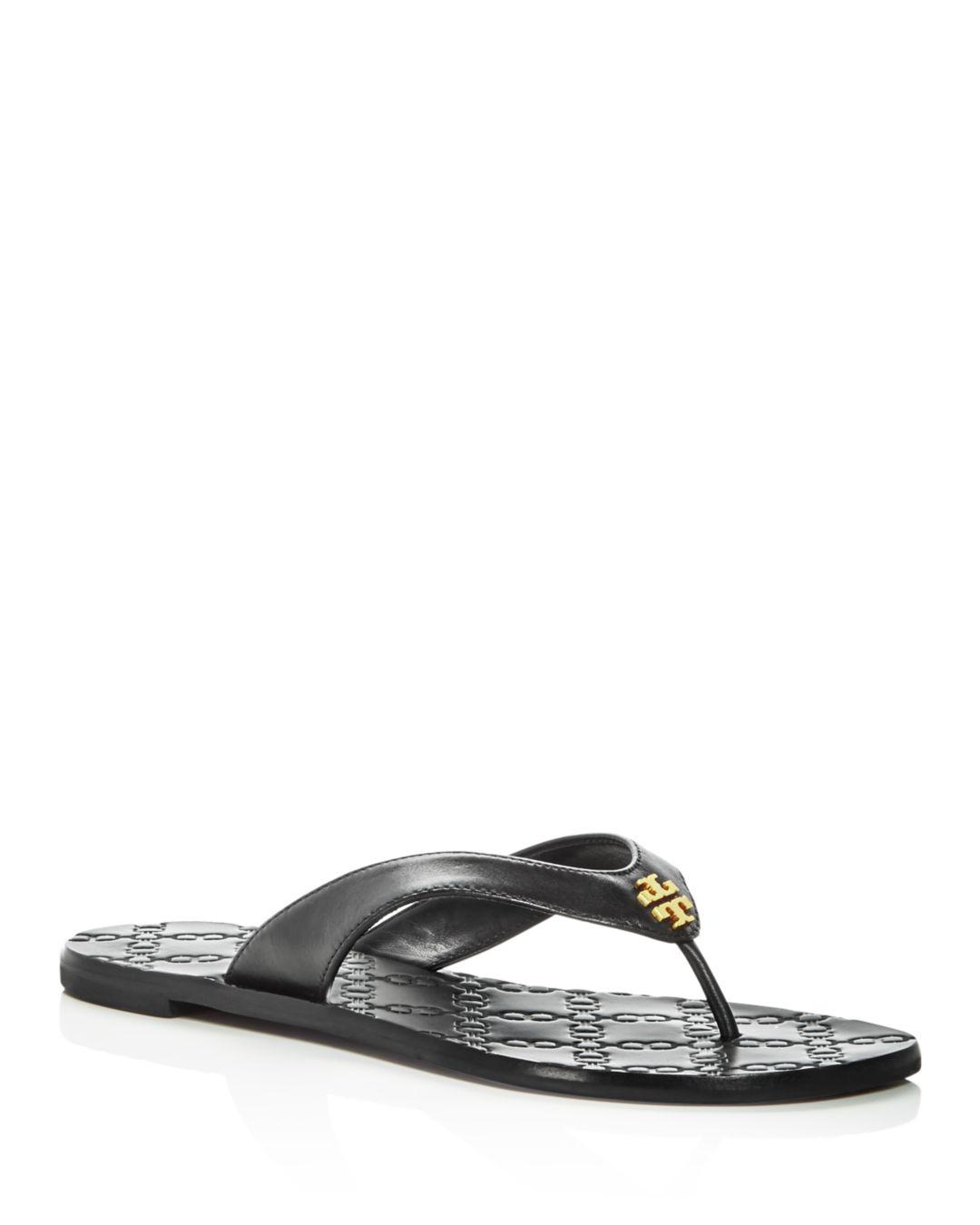 da1b638fbeed Lyst - Tory Burch Women s Monroe Thong Sandals in Black