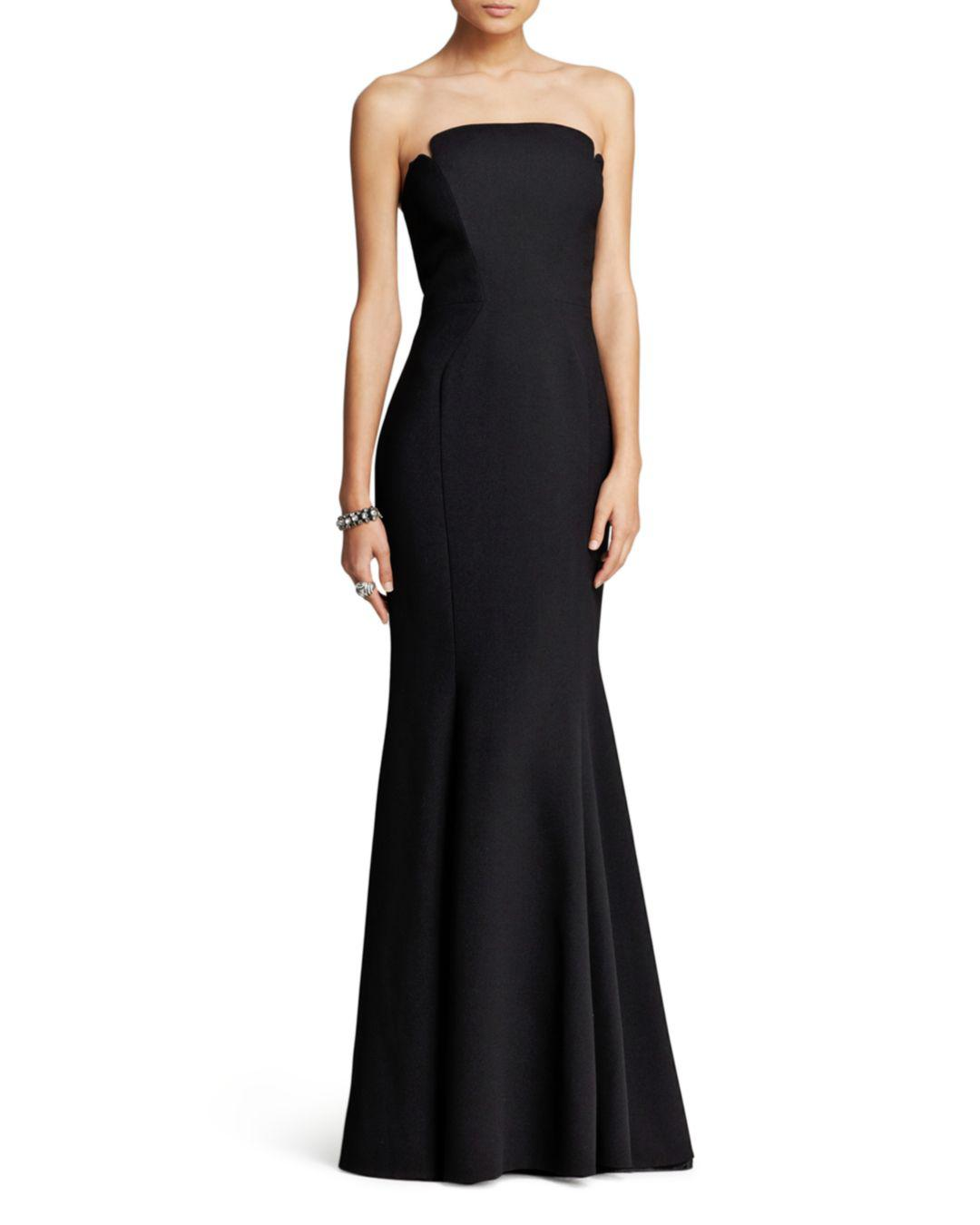 Glamour Gowns Tagged Size S The Deco Haus: JILL Jill Stuart Deco Neckline Strapless Gown In Black