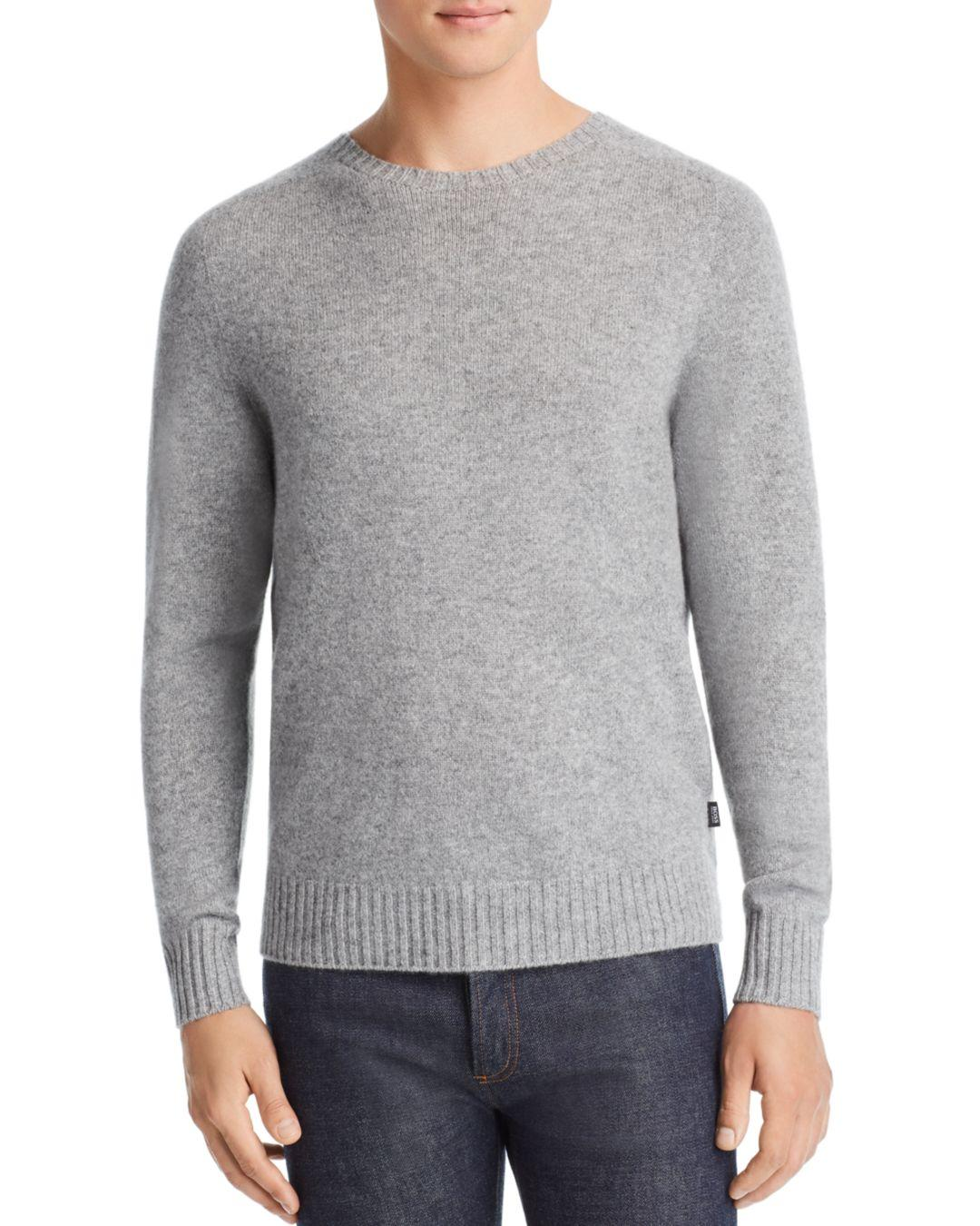 9f50006d67a822 Lyst - BOSS Boss Laudato Cashmere Sweater in Gray for Men