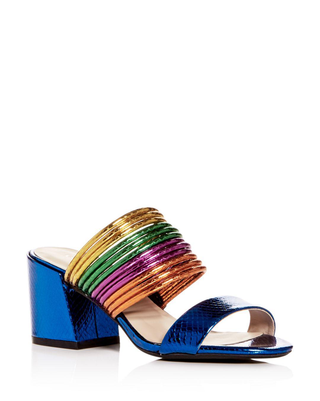 01ccb89cfe9 Lyst - Kenneth Cole Women s Hanna Block-heel Sandals in Blue