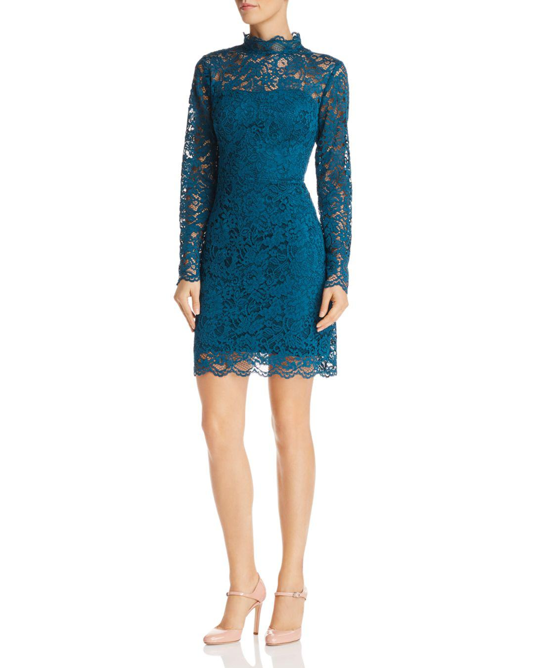 fb0e4d6297a Lyst - Betsey Johnson Lace Cocktail Dress in Blue