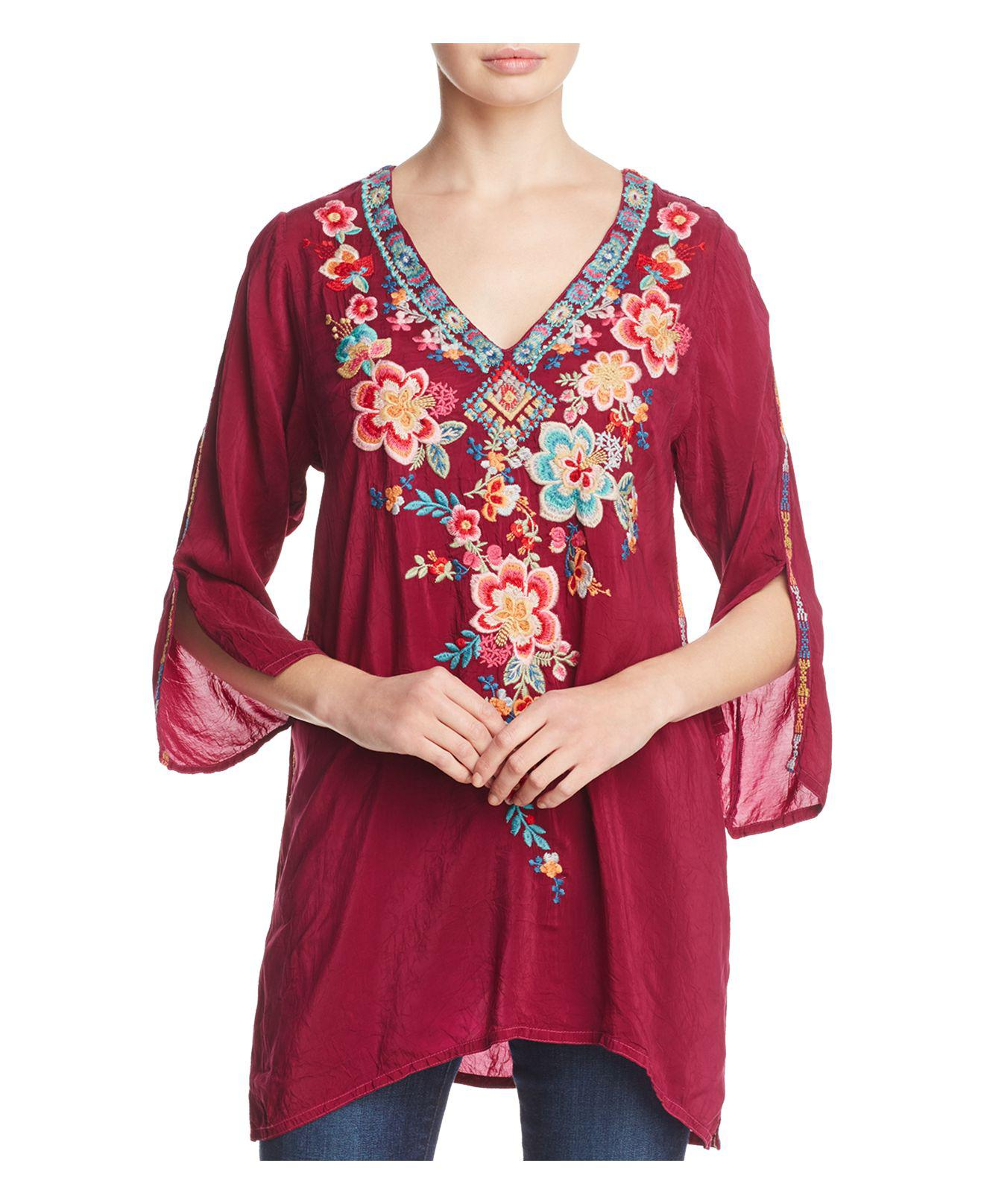 Johnny Was Roma Floral Embroidered Tunic - Lyst