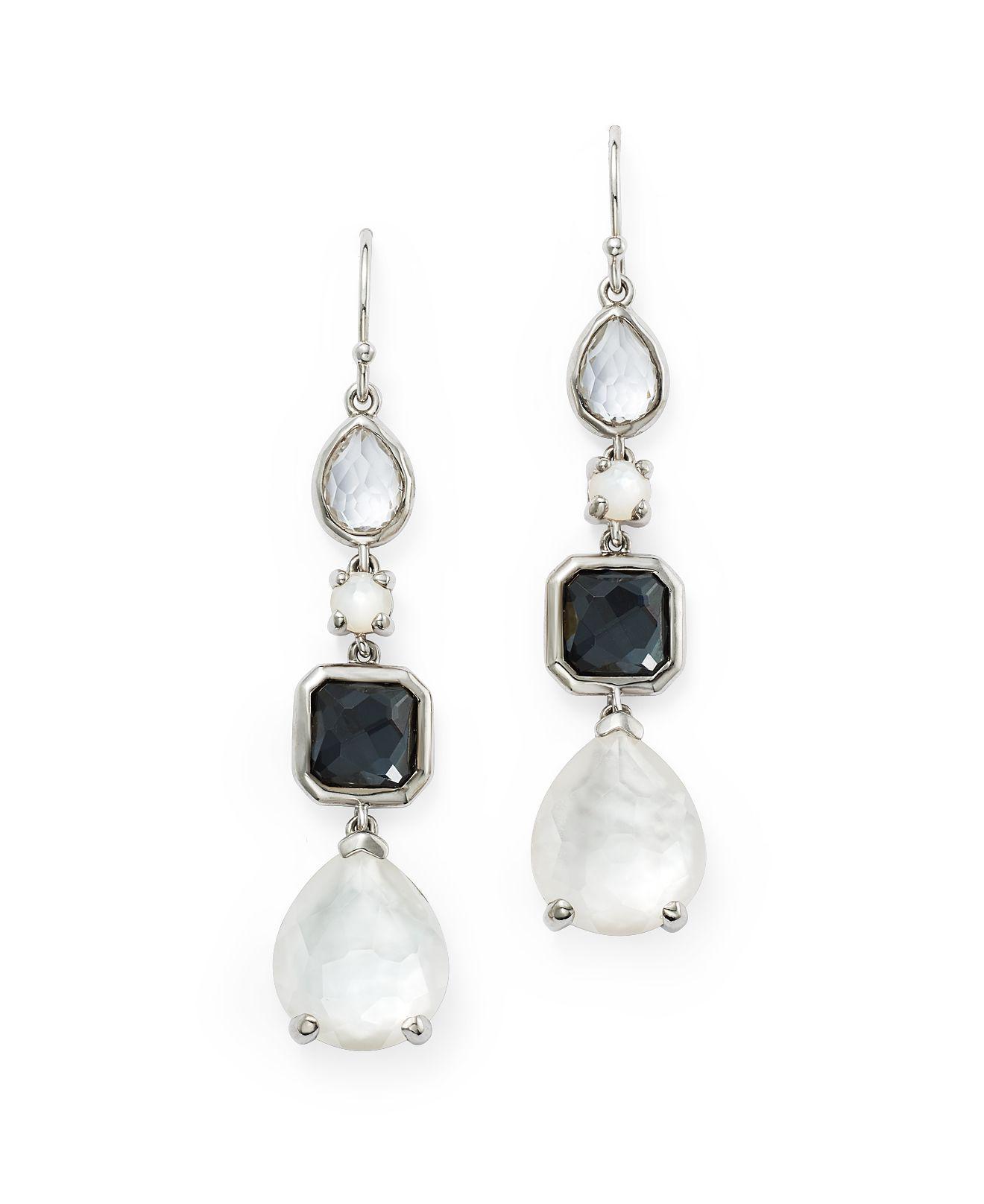 Ippolita 18k Rock Candy Large Teardrop Earrings in Amethyst/Hematite Doublet 0MVY8YkI