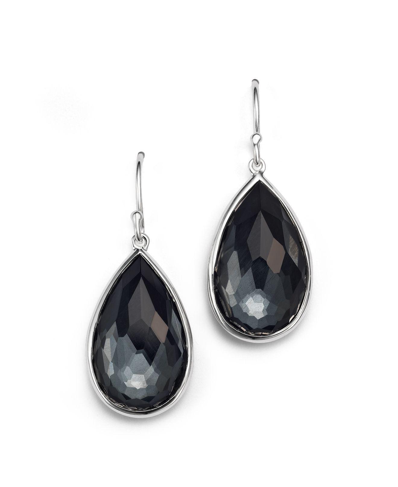 Ippolita Rock Candy Two-Stone Earrings in Onyx and Hematite SFDyg5MOK