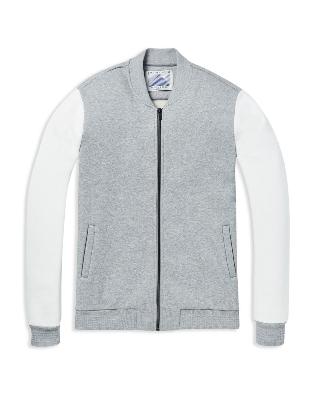 65a0a94ce Scotch & Soda Gray Color-block Sweatshirt Bomber Jacket for men