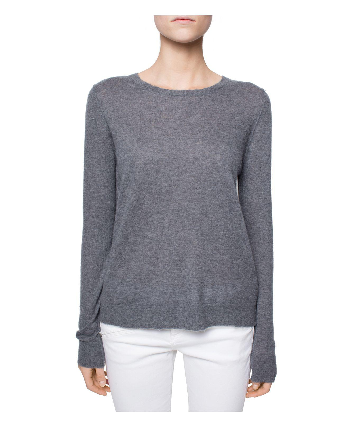 Zadig & voltaire Miss Cashmere Sweater in Gray | Lyst
