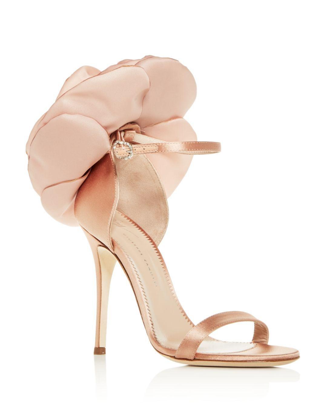 318566dc71be Lyst - Giuseppe Zanotti Women s Flower-embellished High-heel Sandals