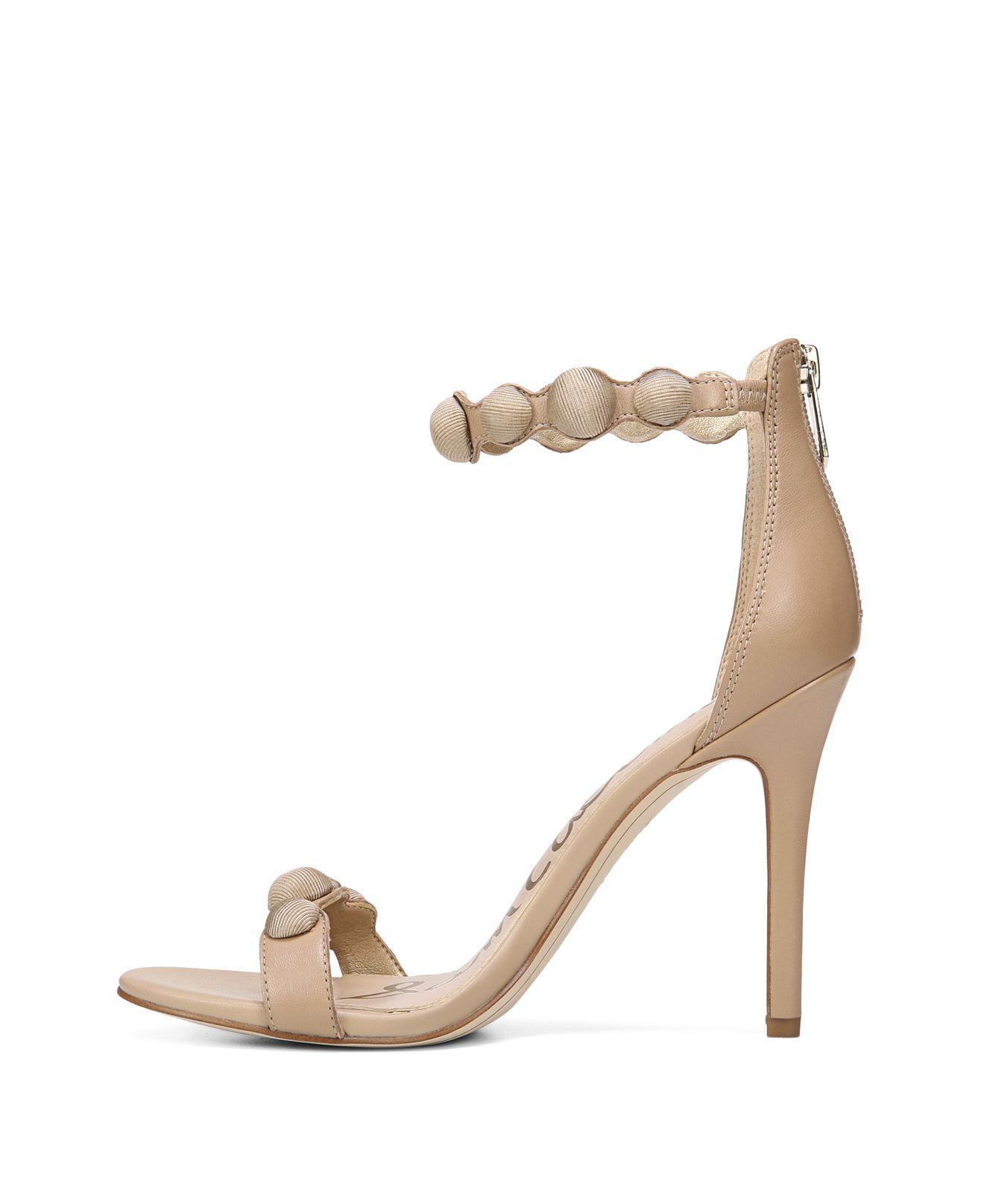 96e4c14ad54 Lyst - Sam Edelman Women s Addison Suede High-heel Ankle Strap ...