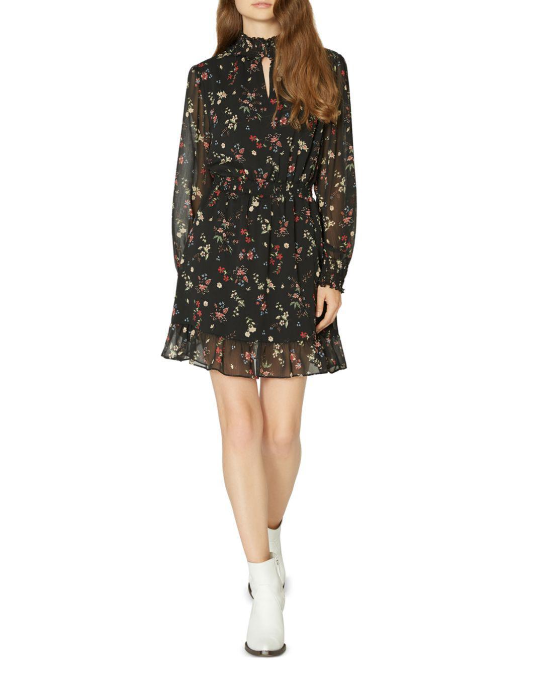 Sanctuary Floral Print Smocked Dress In Black Lyst