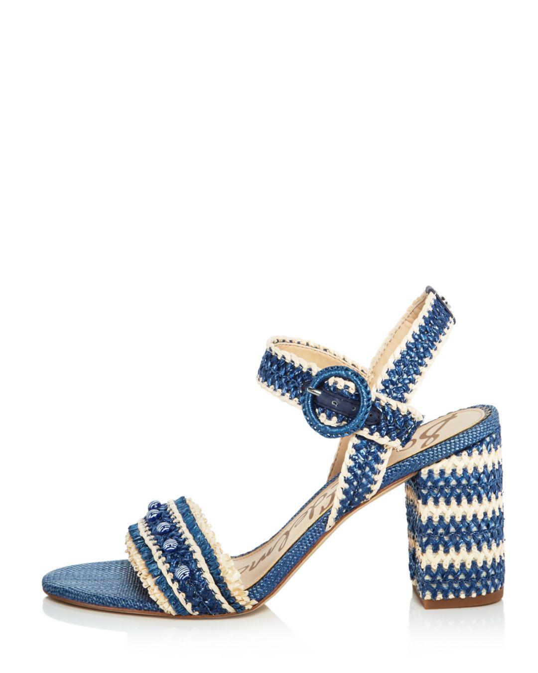 b50e7dcc84b311 Sam Edelman Olisa Heeled Sandal in Blue - Lyst