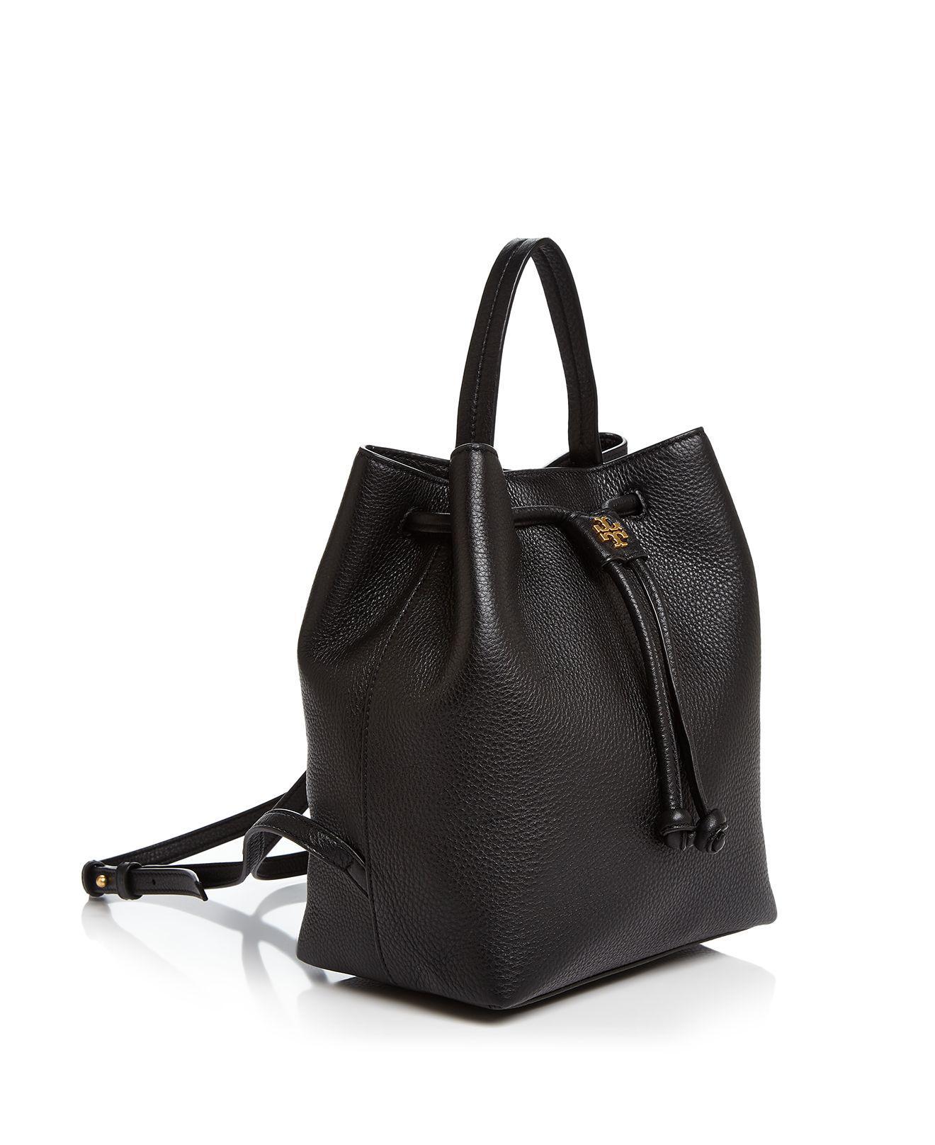 004d8b3b28 Lyst - Tory Burch Georgia Pebbled Leather Backpack in Black