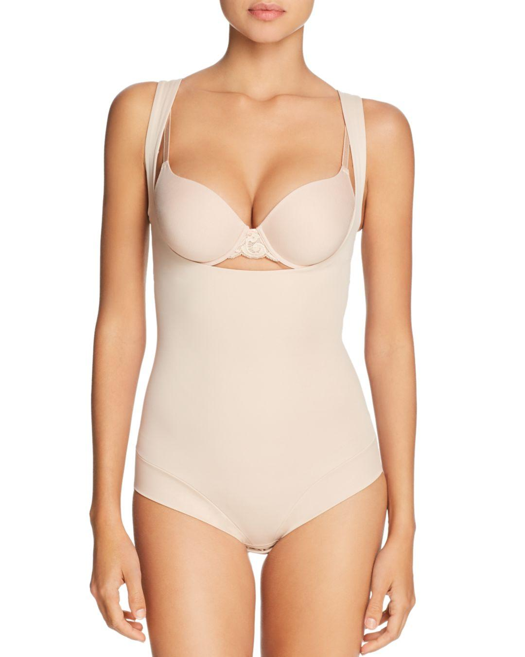 Lyst - Tc Fine Intimates Sheer Bodybriefer Strapless