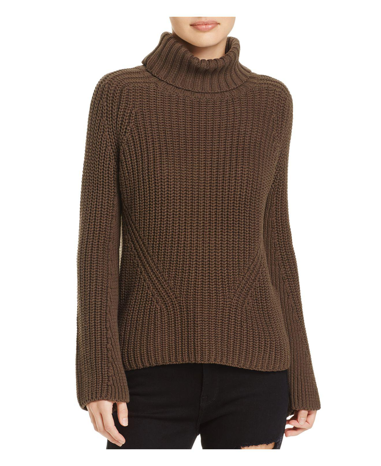 525 america Shaker Chunky-knit Turtleneck Sweater in Brown | Lyst