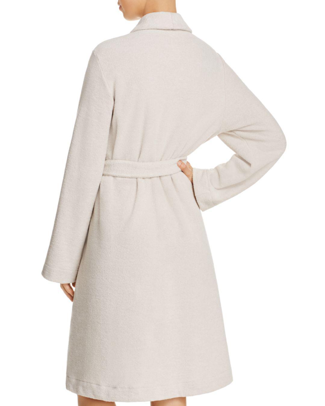 Lyst - Hanro Plush Wrap Robe in Natural 46aa5e44a