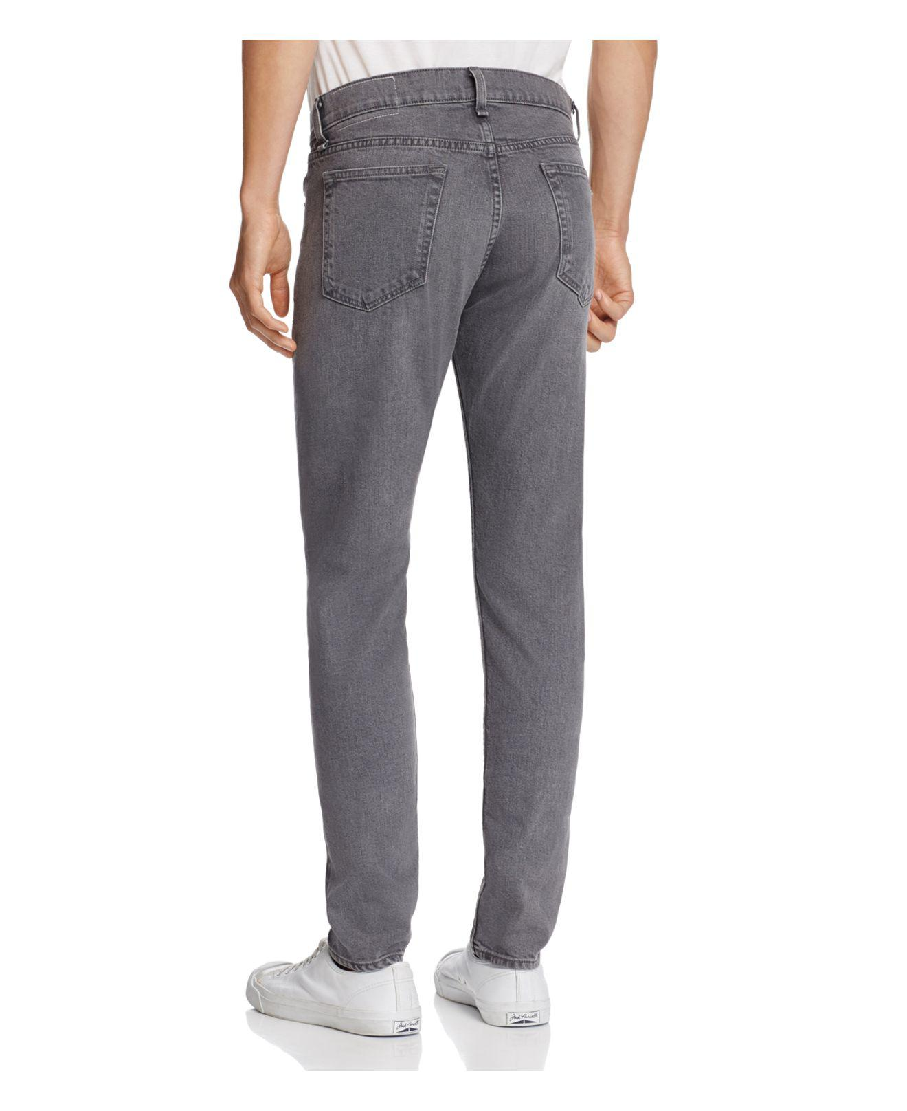 Rag & Bone Denim Standard Issue Super Slim Fit Jeans In Vesuvio in Grey for Men