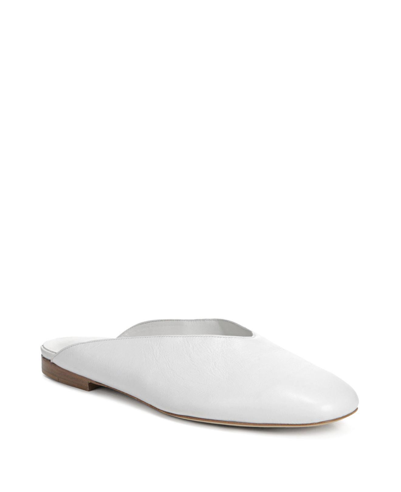 Vince Women S Levins Leather Mules In White Lyst