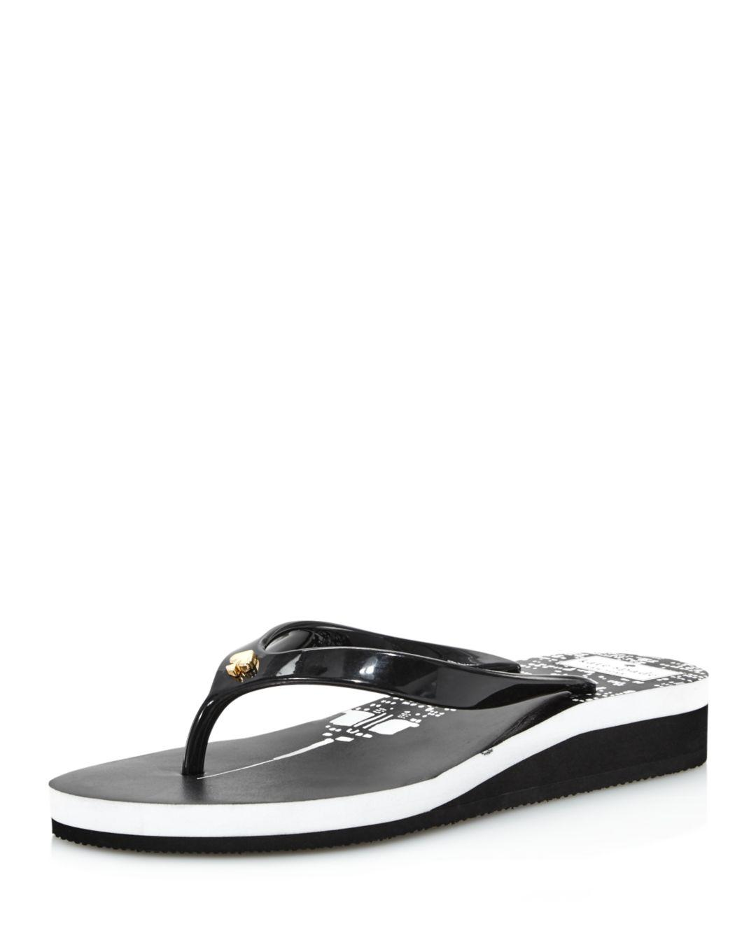 7a05c613df21 Lyst - Kate Spade Women s Milli Platform Flip-flops in Black
