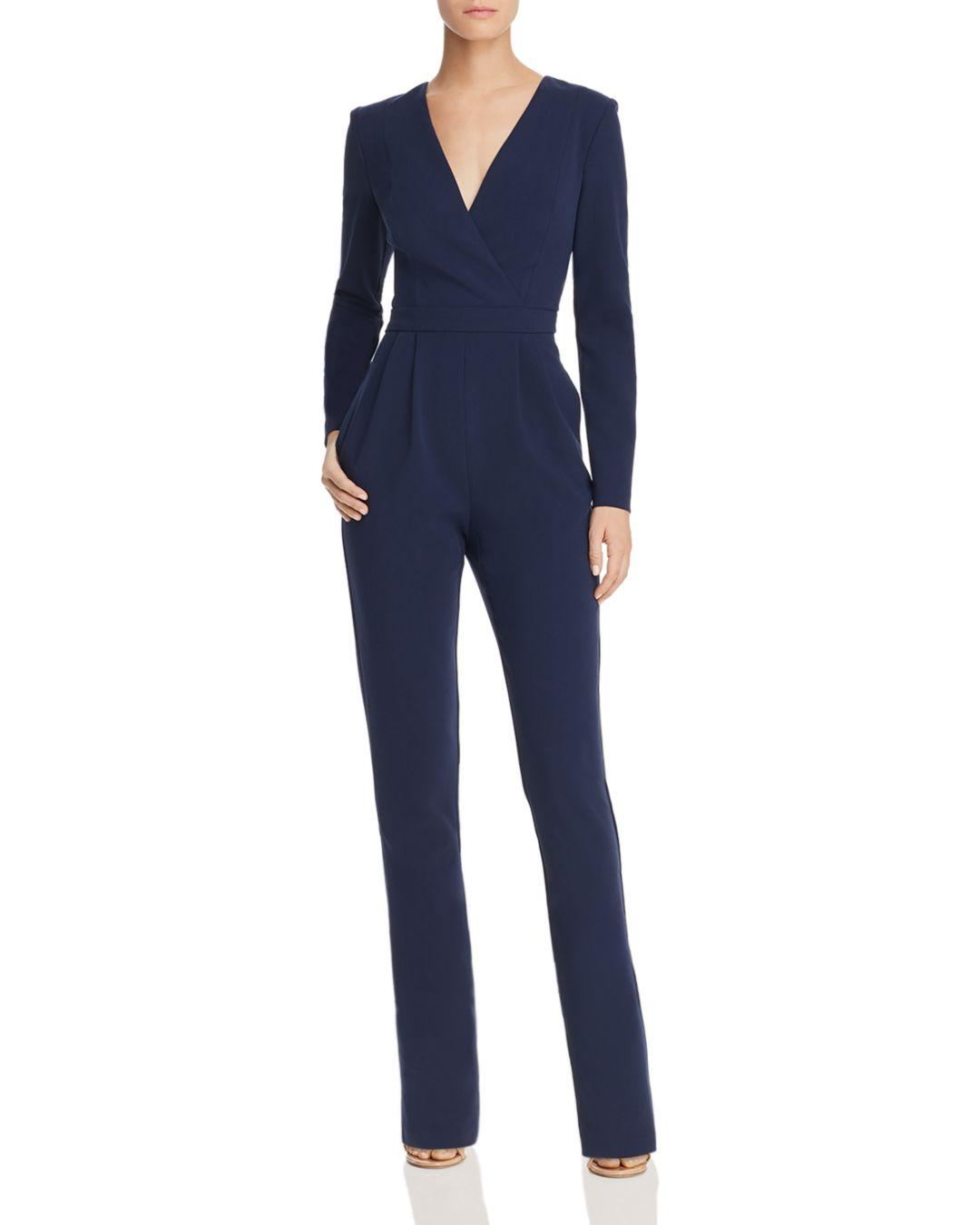 10ae80b67a1 Black Halo Andie Faux-wrap Jumpsuit in Blue - Lyst