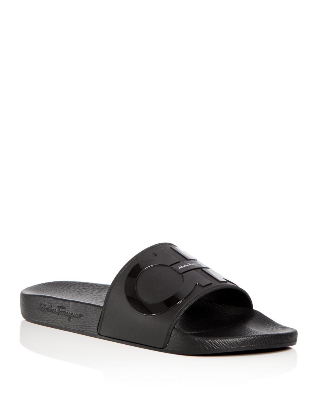 845eecaa120c Ferragamo Men s Groove 2 Original Double Gancini Slide Sandals in ...