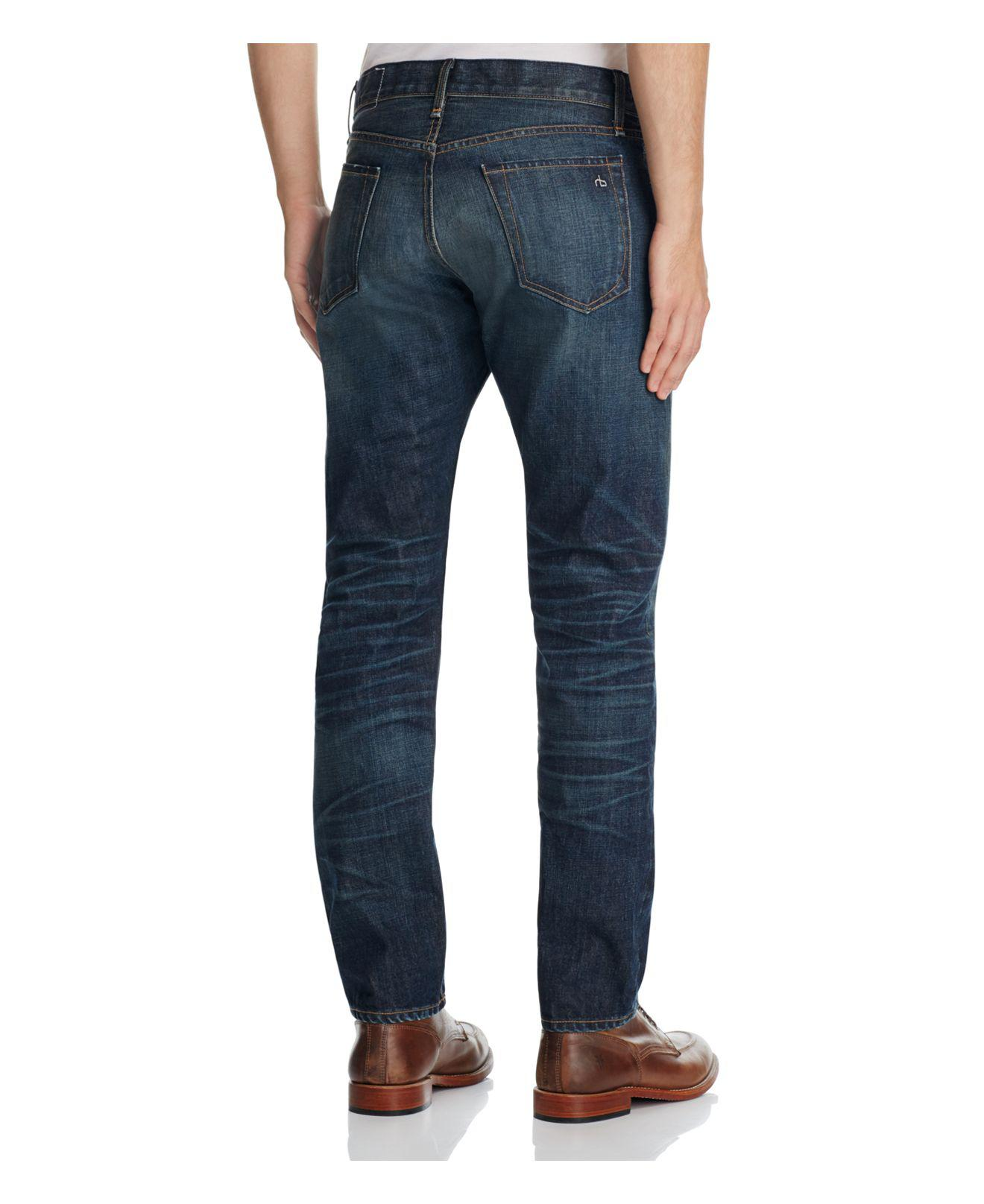 Rag & Bone Denim Fit 3 Straight Fit Jeans In Crawley in Blue for Men