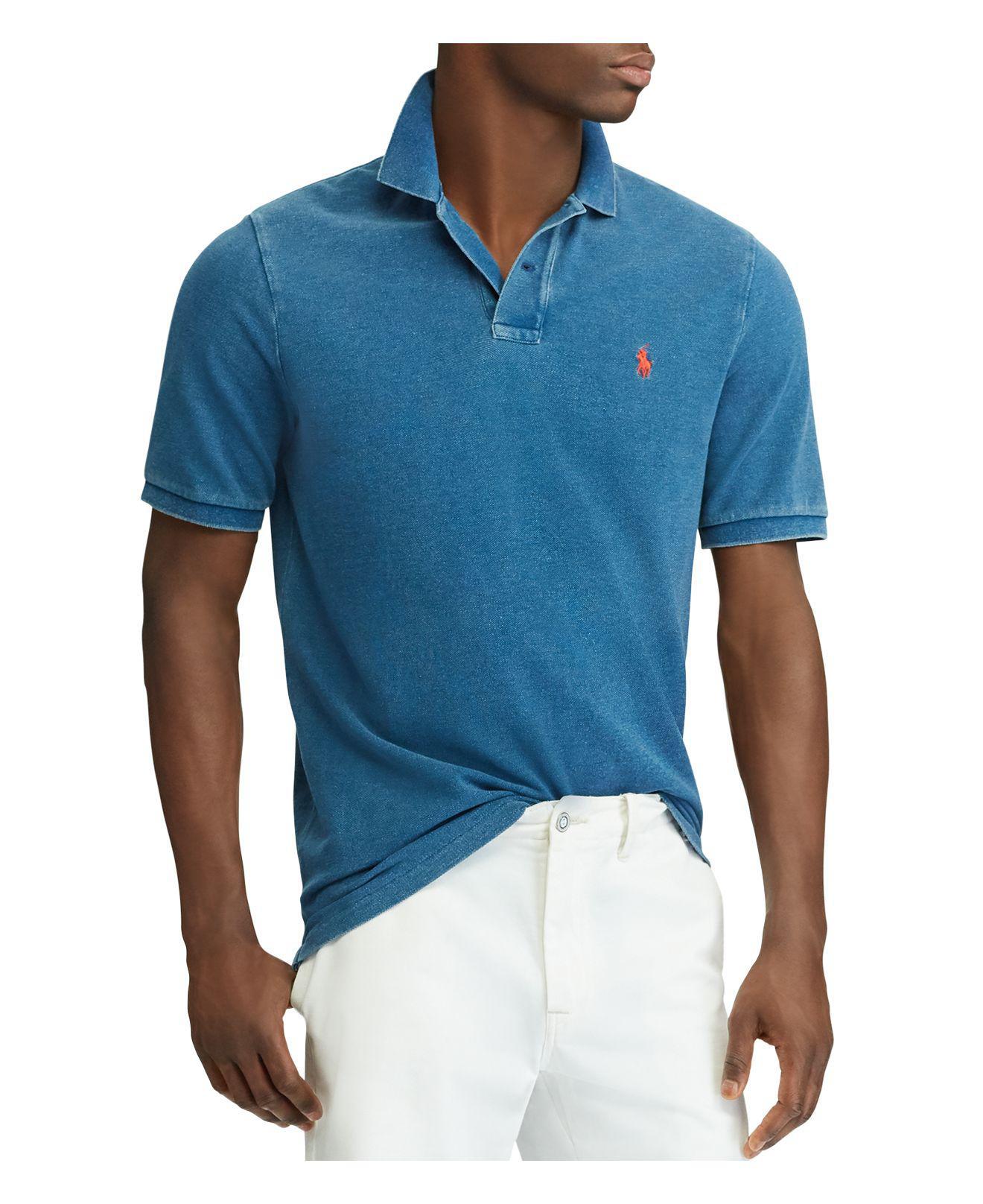 Polo Ralph Lauren. Men\u0027s Blue Custom Slim Fit Mesh ...